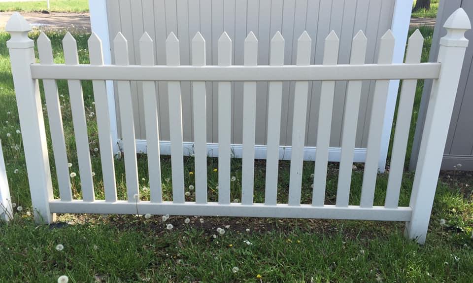 white plastic fence