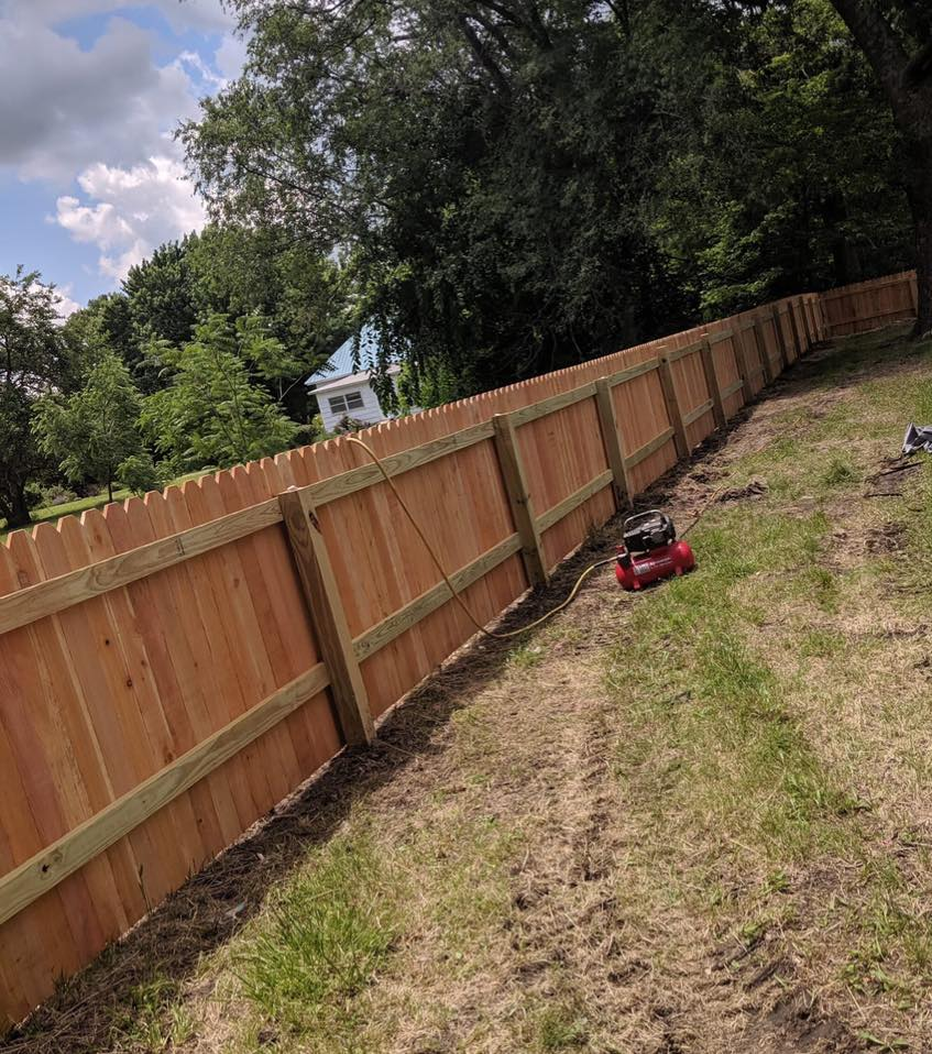 new fence installed